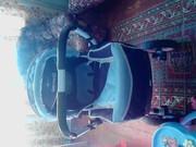 детская коляска сине-голубой цвет